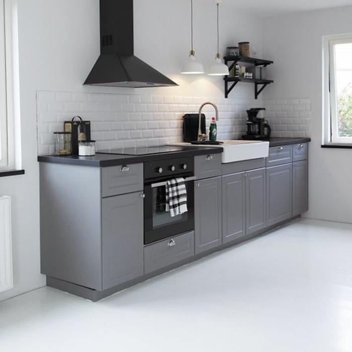 Cocina suelo gris good baldosa de interior para cocina - Cocina suelo gris ...