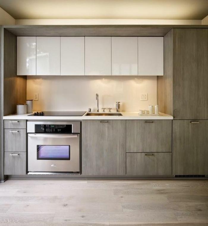 1001 ideas de decorar vuestra cocina blanca y gris for Muebles de cocina pequena modernos