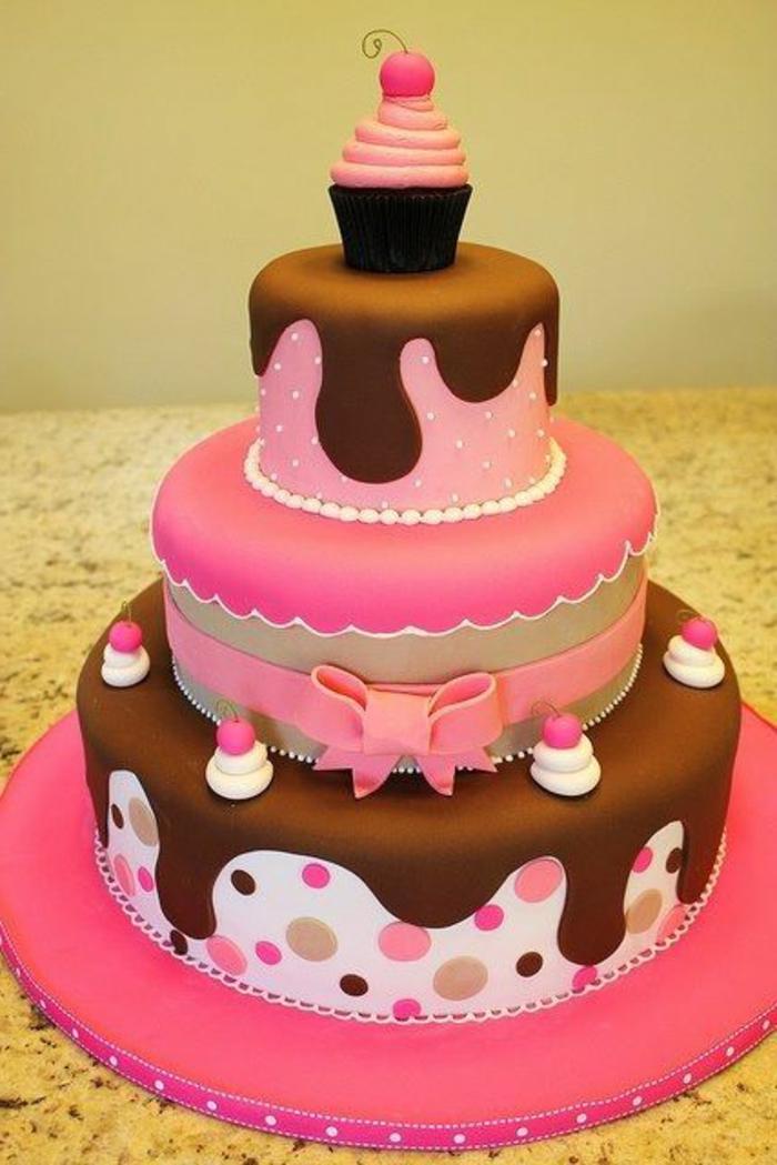 decoración-de-tartas-de-niños-magdalenas-colores-rosas-cinta-varias-capas