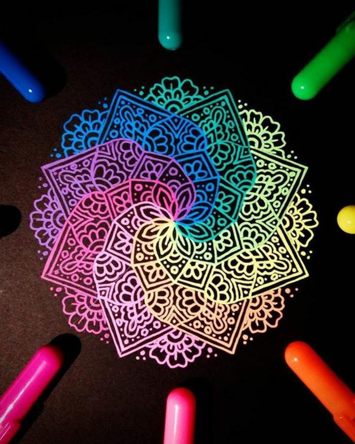 dibujar-mandalas-de color-interesante-elementos-complicados-flor