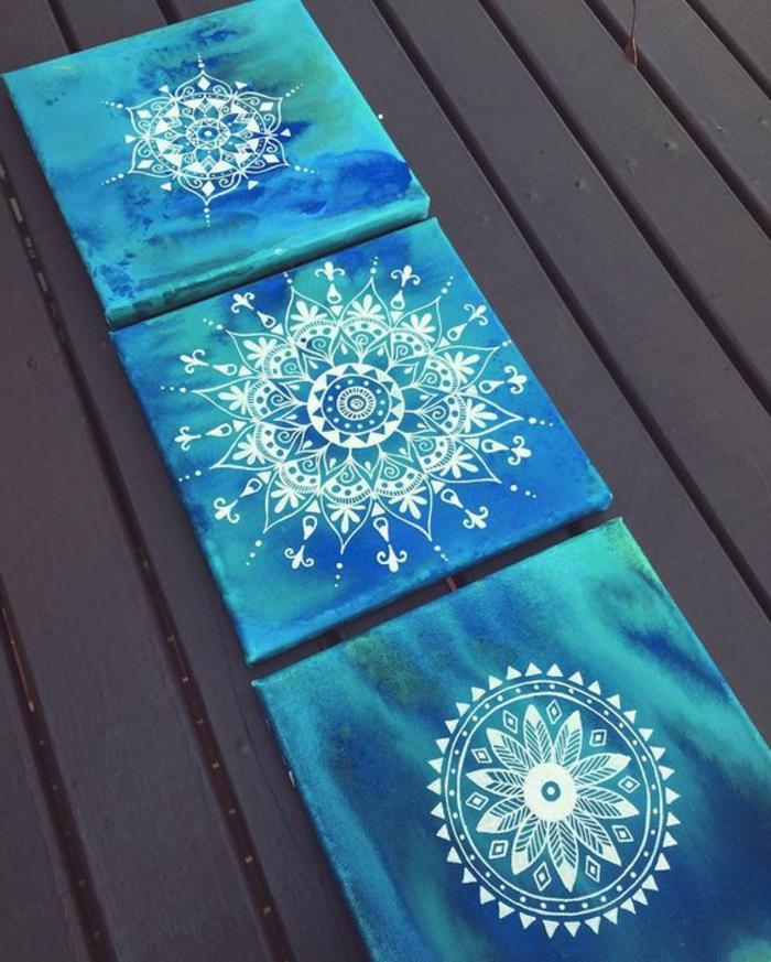 dibujar-mandalas-fondo-azul-mandalas-blancas-diferentes-tamaños-cuadros-de-pared