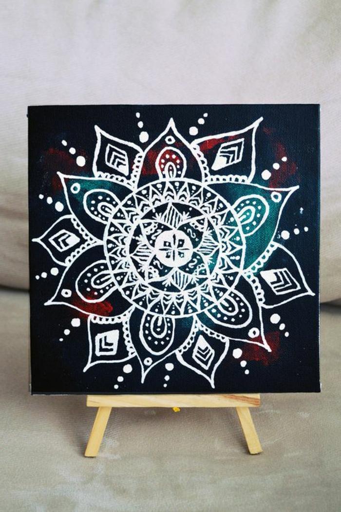 dibujar-mandalas-fondo-oscuro-mandala-en-blanco-cuadro-interesante-artistico