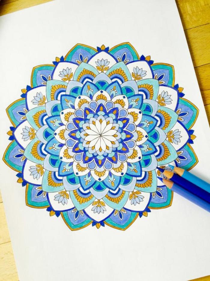 dibujos-de-mandalas-colores-azul-amarillo-mandala-para-colorear-relajante