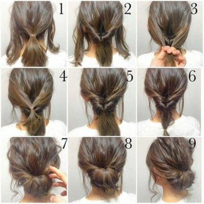 peinados-de-fiesta-simples-mujer-con-pelo-medio-tutorial-simple-fácil-de-hacer