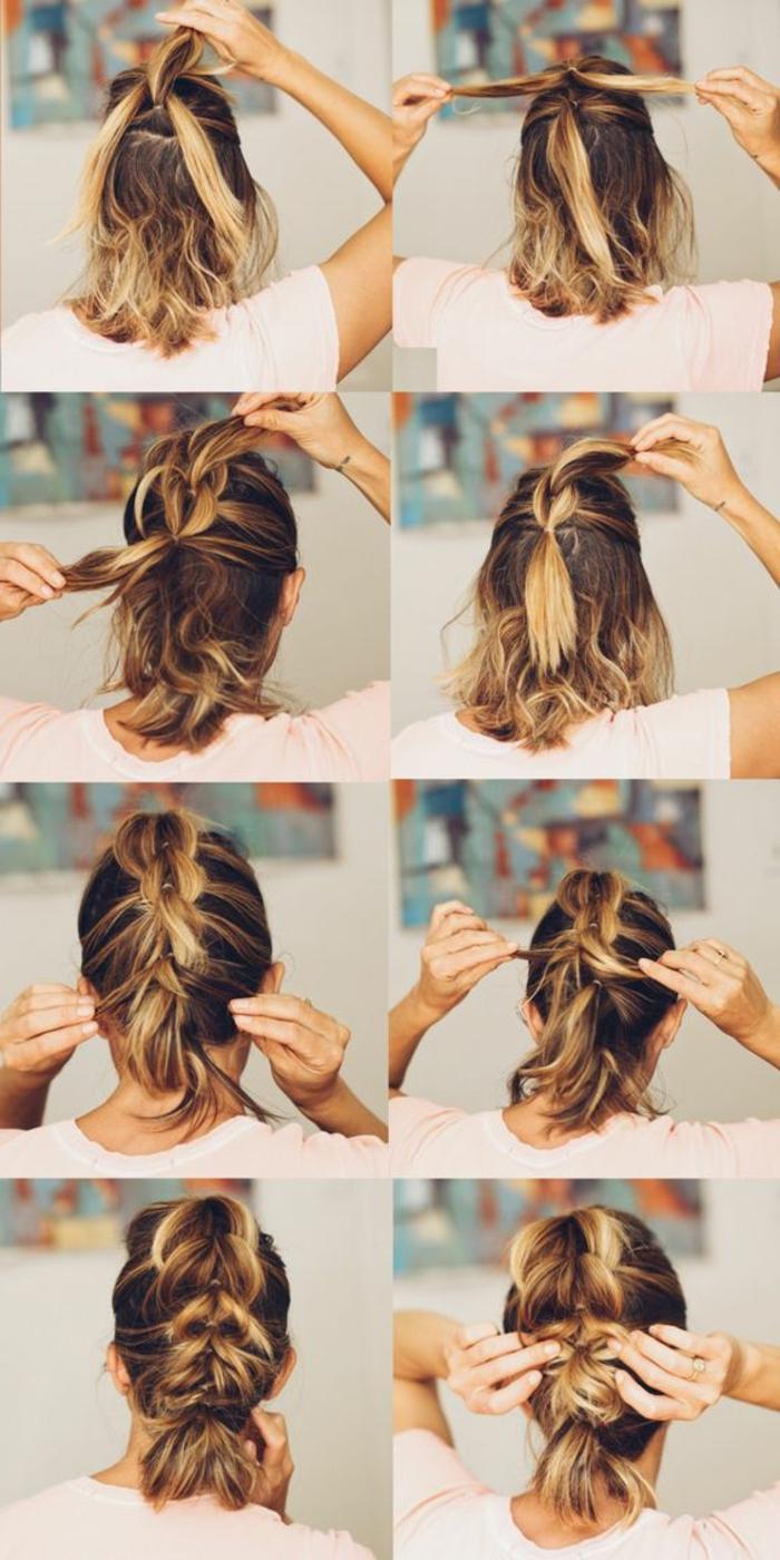 peinados-nochevieja-pelo-corto-estilo-ombre-fácil-de-hacer-paso-a-paso