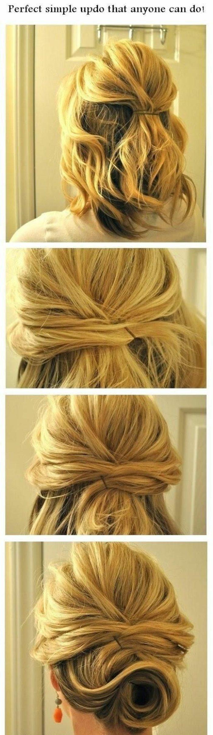 peinados-nochevieja-pelo-media-melena-rizado-rubio-recogido-fácil-de-hacer-paso-a-paso
