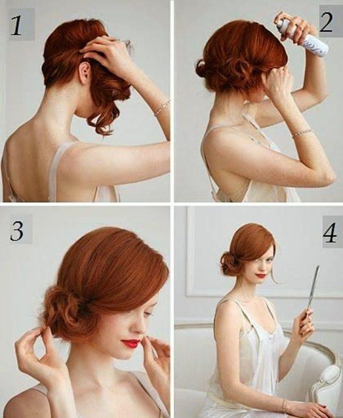peinados-sencillos-pelo-corto-rizado-fácil-de-hacer-pelo-rojo-paso-a-paso