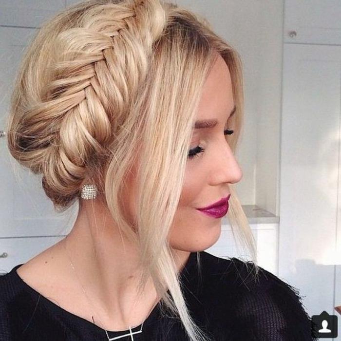 1001 ideas de peinados de fiesta atractivos y femeninos for Recogidos bonitos y sencillos