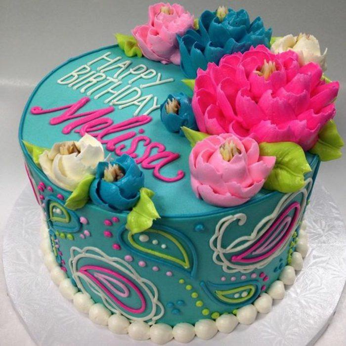 tartas-de-cumpleaños-dibujo-tarta-de-muchos-colores-flores-decoracion-tarta-azul