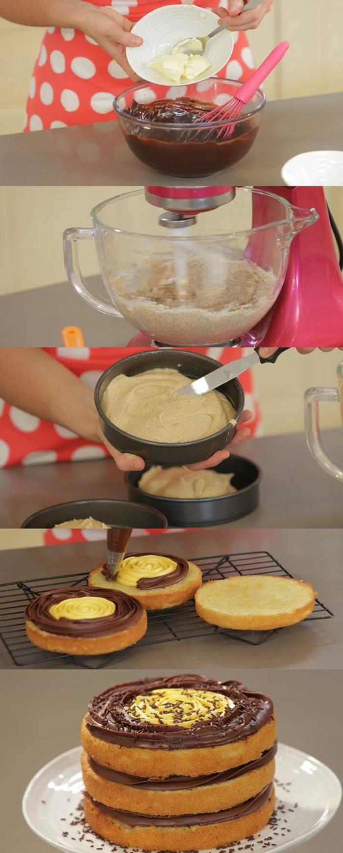 tartas-de-cumpleaños-dibujo-tarta-fácil-de-hacer-en-casa-con-crema-de-chocolate-y-vanilla