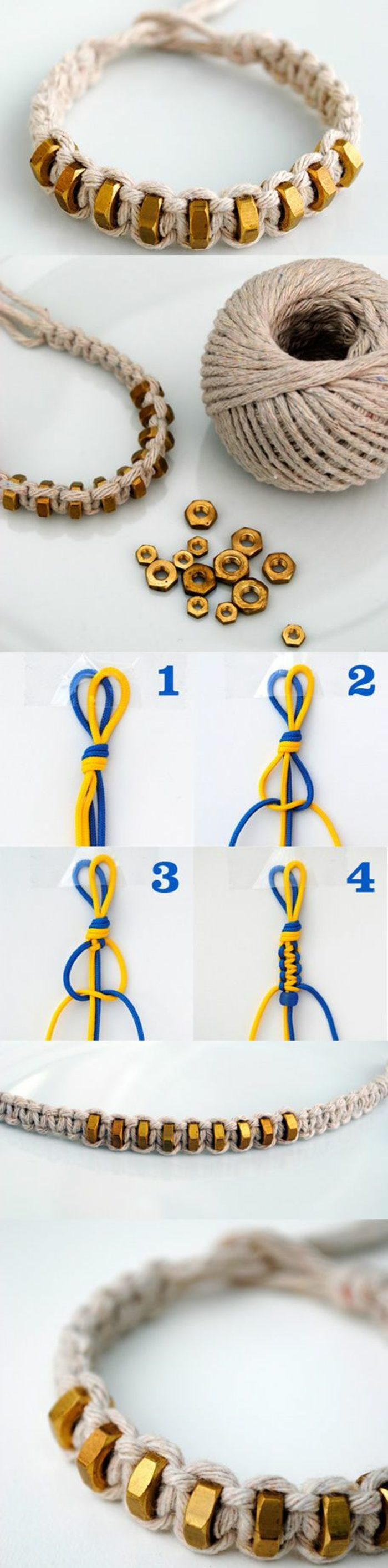 como-hacer-pulseras-de-hilo-pulsera-de-macrame-elementos-de-metal-decoración-simple-de-elaborar