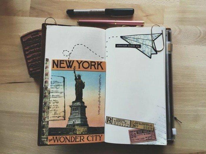 cuadernos-de-viaje-foto-de-nueva-york-diario-con-pegatines-memorias-de-viaje