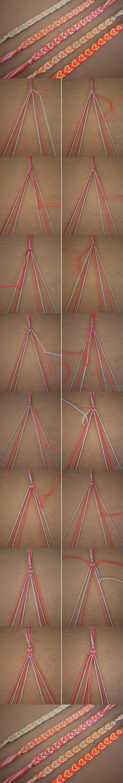 pulseras-de-macrame-como-tejer-pulseras-paso-a-paso-diferentes-colores-corazones