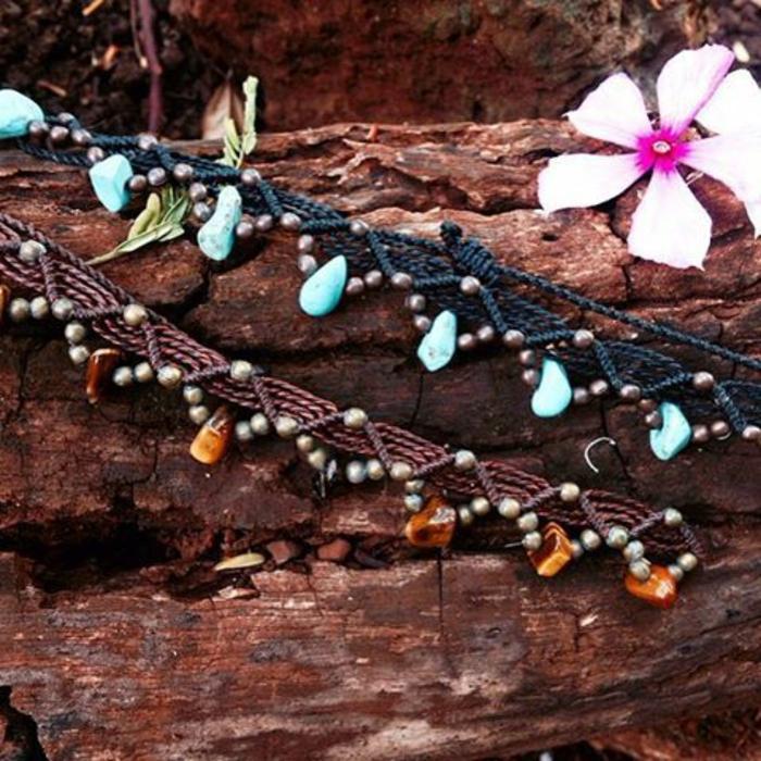 pulseras-de-macrame-con-piedras-preciosas-dos-pulseras-diferentes-colores-elegante