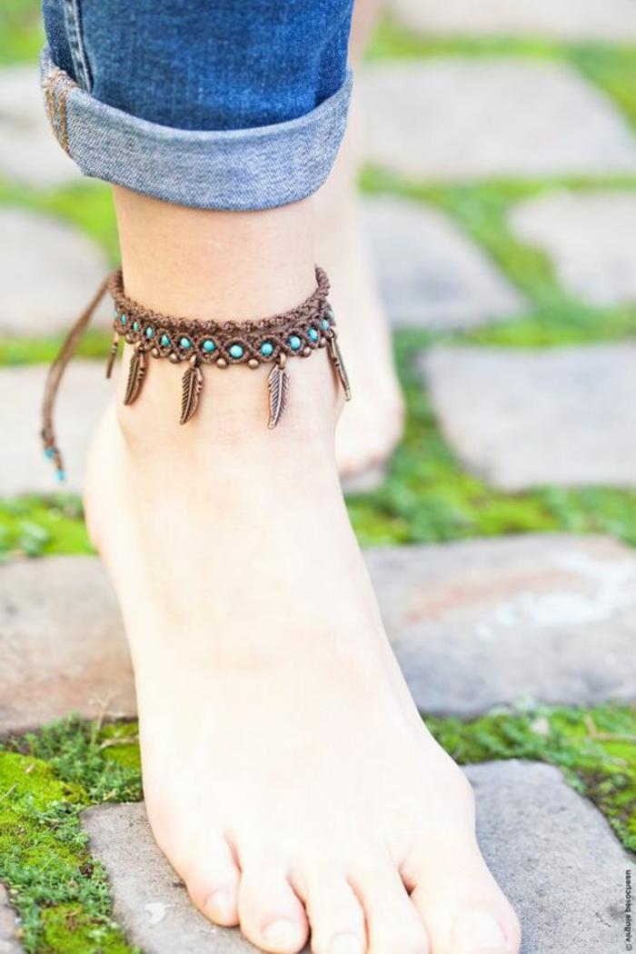 pulseras-de-macrame-para-la-pierna-piedras-preciosas-azules-elementos-de-decoración