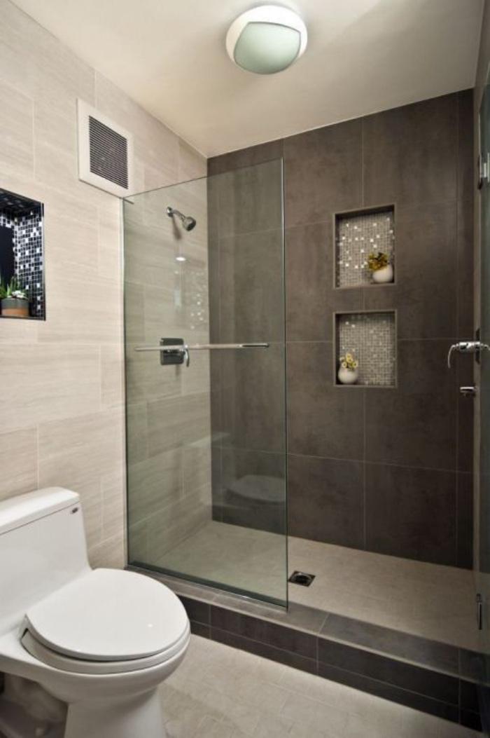 baos modernos tonos oscuros ducha cuarto de bao pequeo decoracin interesante