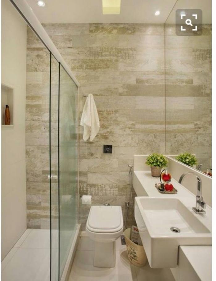 decoración baños, tonos claros, ducha, fregadero, decoración, plantas, baño pequeño