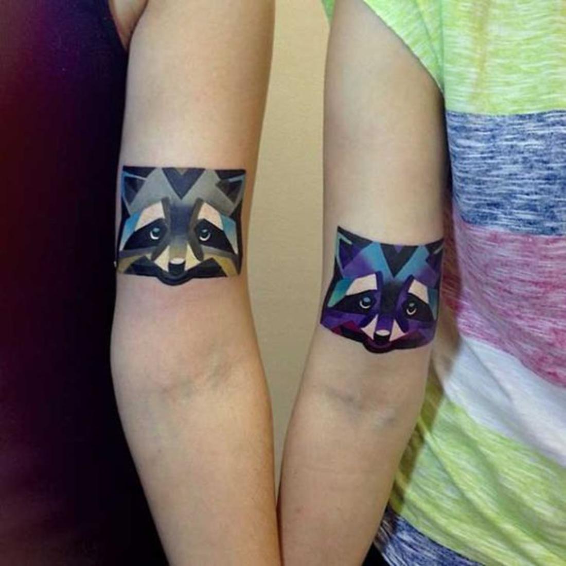 tatuajes parejas, bonitos tatuajes de zorros, zorro masculino, zorro femenino, interesante