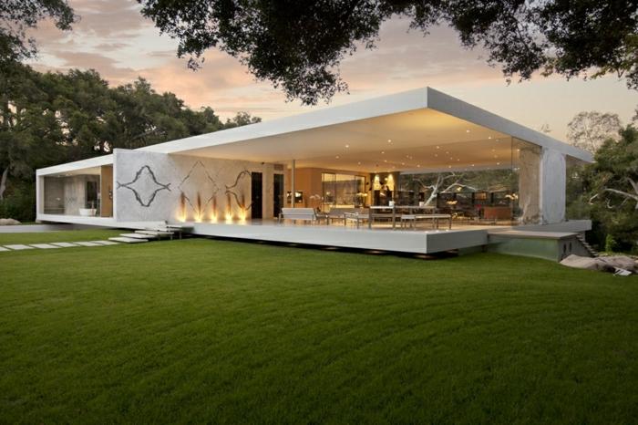 1001 ideas sobre fachadas de casas modernas for Villa basse moderne