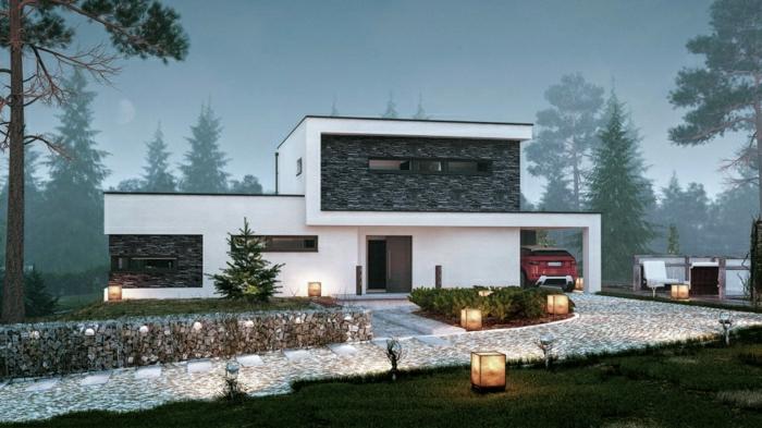 1001 ideas sobre fachadas de casas modernas Casas de piedra modernas