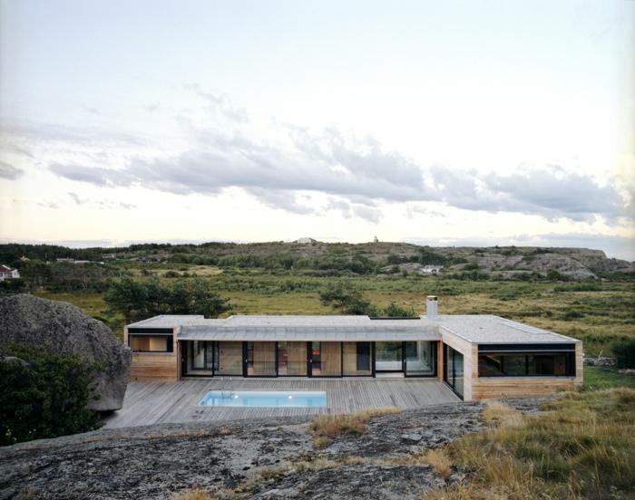 1001 ideas sobre fachadas de casas modernas - Fotos de casas en forma de l ...