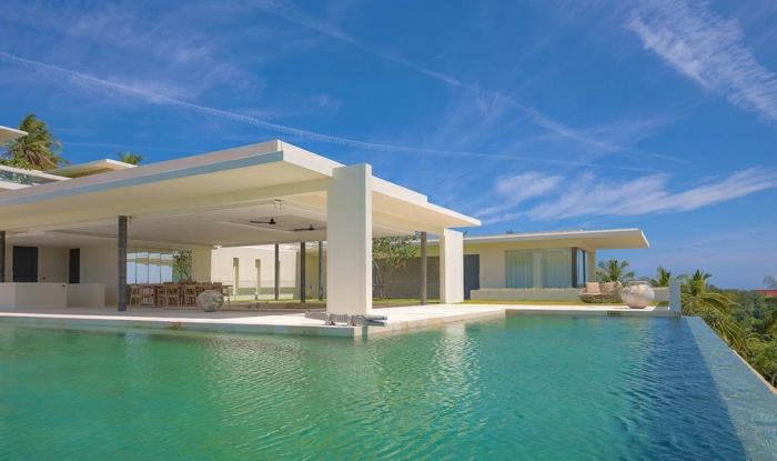1001 ideas sobre fachadas de casas modernas for Casas modernas com piscina