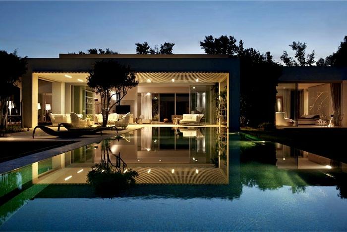 1001 ideas sobre fachadas de casas modernas - Casas de lujo modernas ...