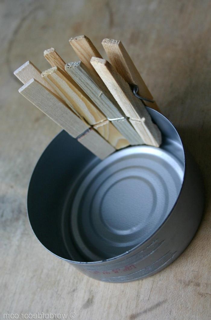 manualidades recicladas, lata, pinzas de madera, manualidades recicladas, diy decoracion