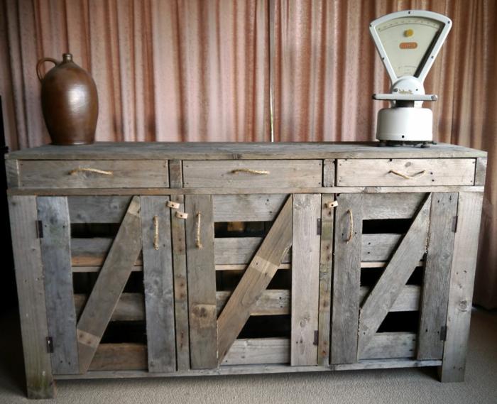 1001 ideas con palets originales y f ciles para tu casa for Como hacer muebles con palets de madera