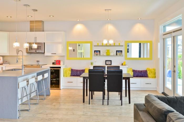 1001 ideas para decoracion de comedores en diferentes estilos for Cocinas con espejos