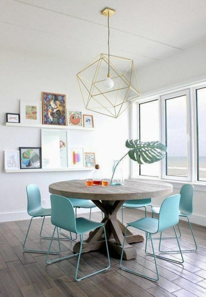 1001 ideas para decoracion de comedores en diferentes estilos - Salon comedor con mesa redonda ...