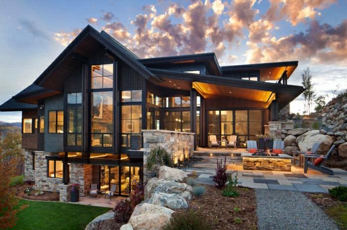 1001 ideas sobre fachadas de casas modernas for Las casas mas modernas