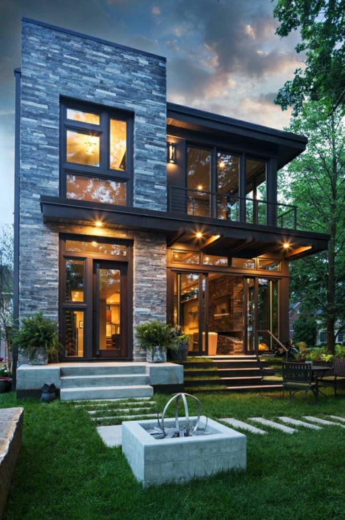 1001 ideas sobre fachadas de casas modernas for Casas modernas rusticas