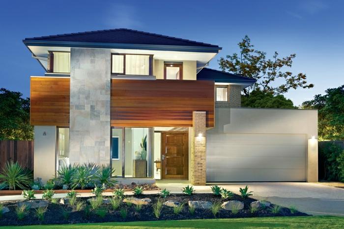 1001 ideas sobre fachadas de casas modernas for Fachadas modernas para casas de dos pisos