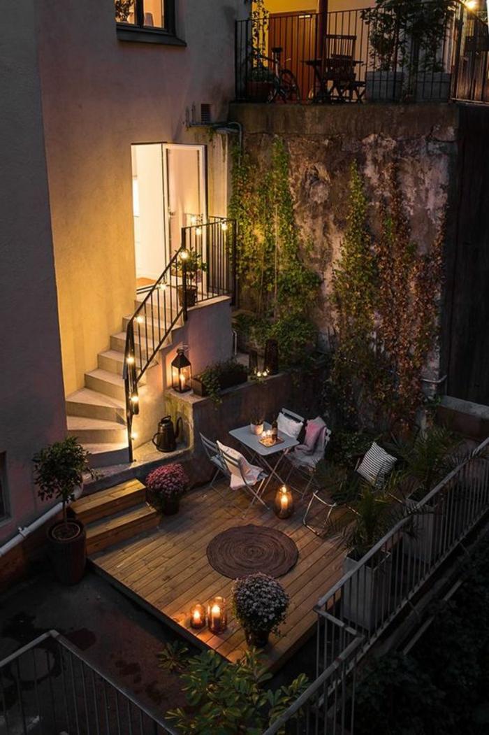 1001 ideas de decoracion de terrazas grandes o peque as for Mesa de terraza con quitasol