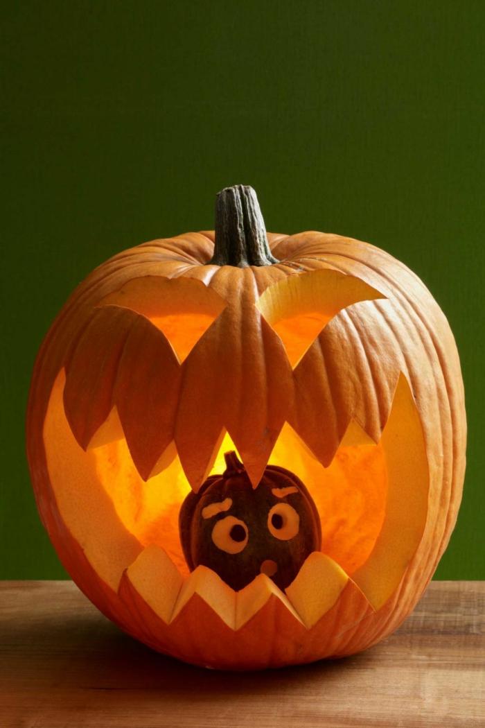 1001 ideas de decoraci n con calabazas de halloween for Puertas decoradas halloween calabaza