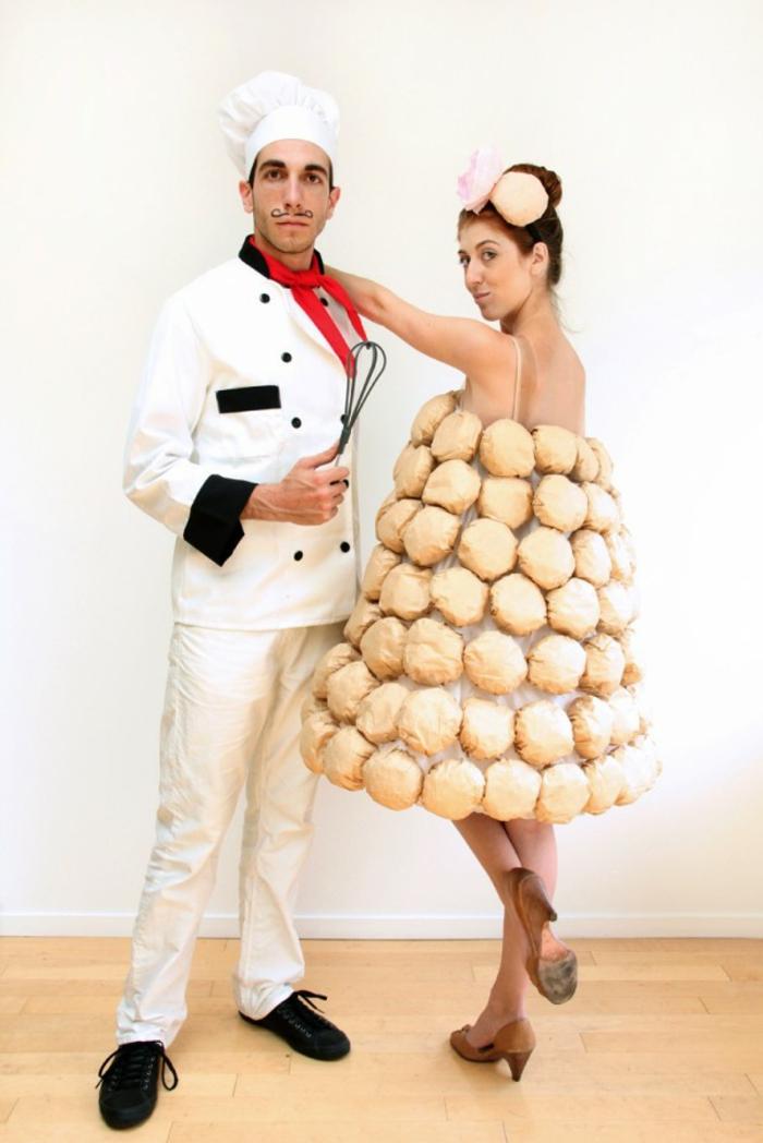 disfraces de carnaval, disfraz en pareja, cocinero y su pastel