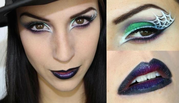 maquillaje para halloween, pasos para conseguir un maquillaje de bruja glam encantador, mirada profunda, labios dramáticos