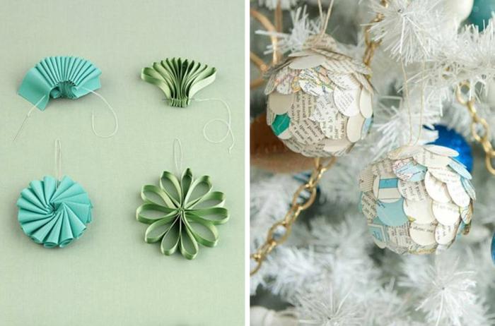 1001 ideas de adornos navide os para hacer en tu casa - Adornos de navidad con papel periodico ...