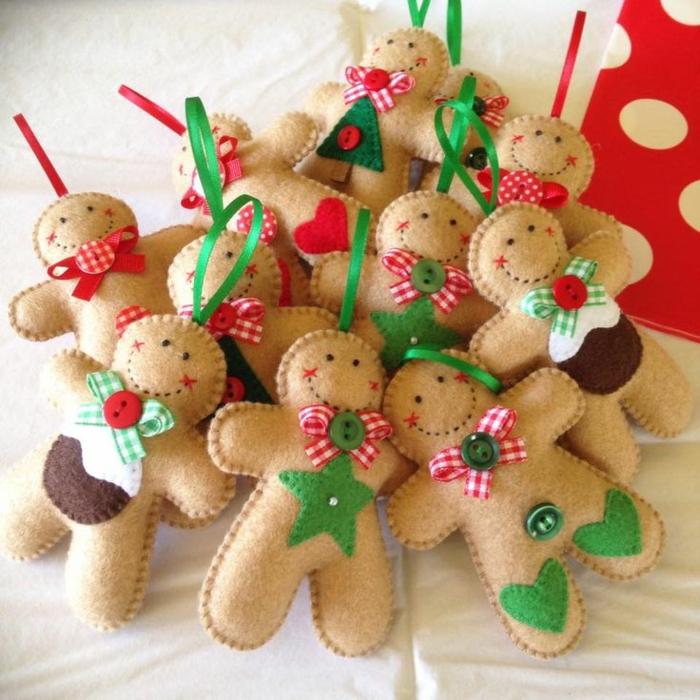 manualidades navidad, adornos para el árbol, figuras divertidas