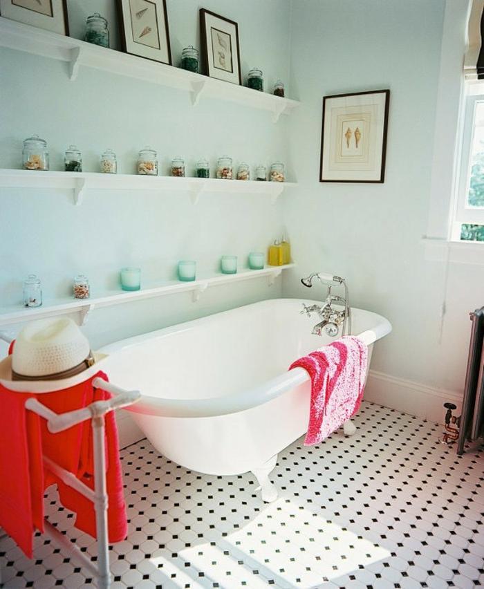 decoracion baños, baño cubano, frascos decorativos, dibujos de elementos marinos