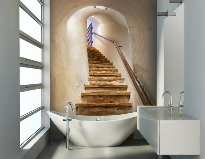 como decorar un baño, optimizar el desdén, estilo minimalista, bañera oval