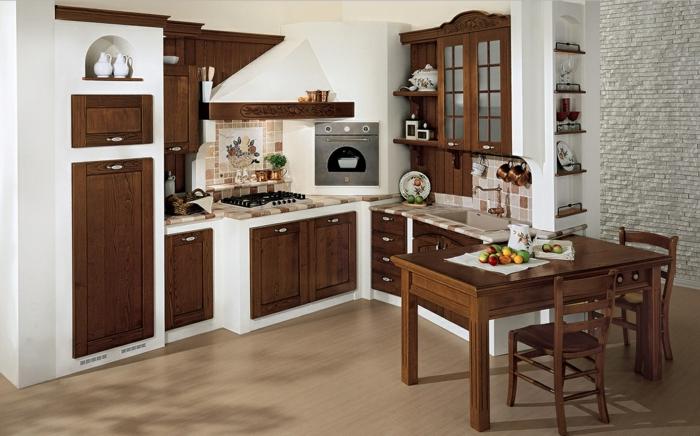 1001 ideas de cocinas rusticas c lidas y con encanto - Mesas de cocina madera rustica ...