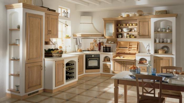 1001 ideas de cocinas rusticas c lidas y con encanto - Mesa cocina rustica ...