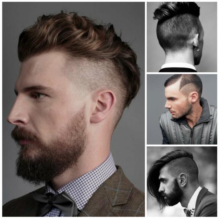 degradado hombre, cuatro tipos de corte undercut, sienes rapados, cortes de pelo muy avangard