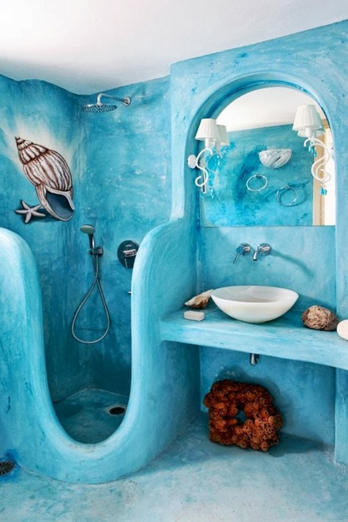 decoracion baños pequeños, lavabo oval blanco, baño infantil, decoración caracol
