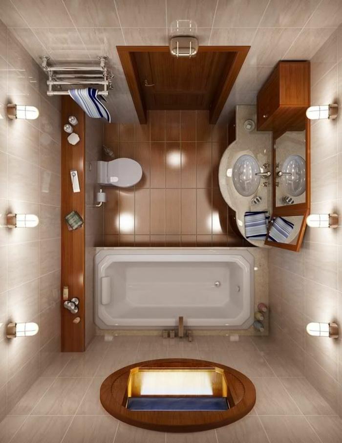 cuartos de baños modernos, baño tradicional, lavabo oval, bañera blanca