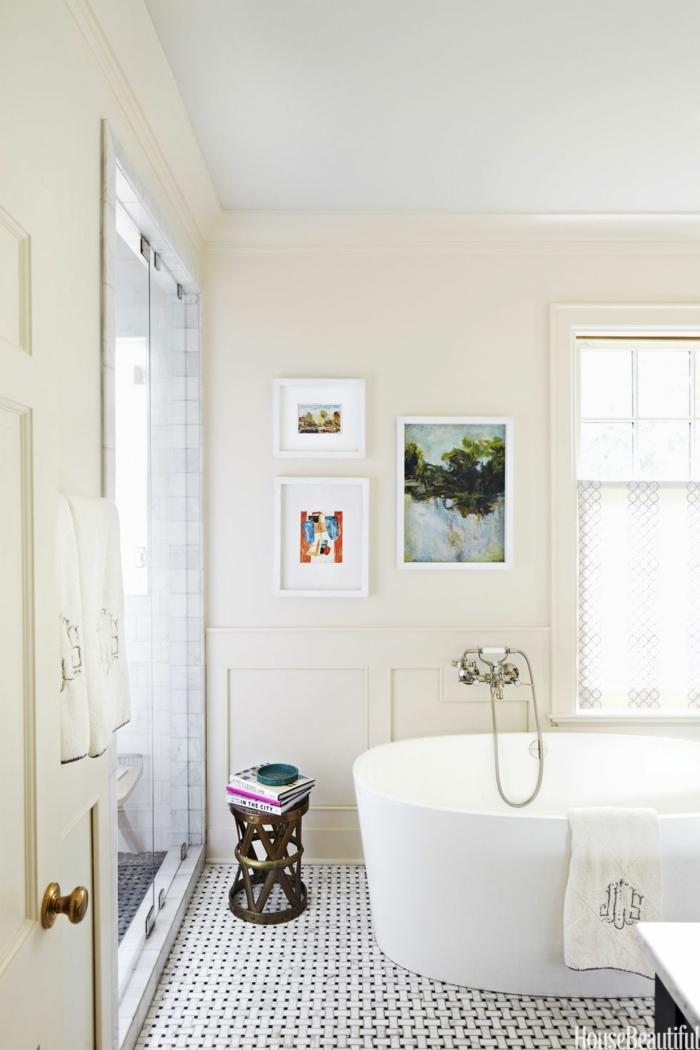 baños pequeños, cuarto de baño pequeño en blanco, cuadros decorativos