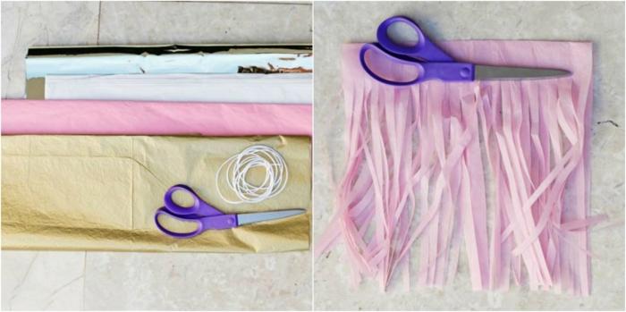 manualidades para adultos, instrucciones para hacer guirnaldas de papel