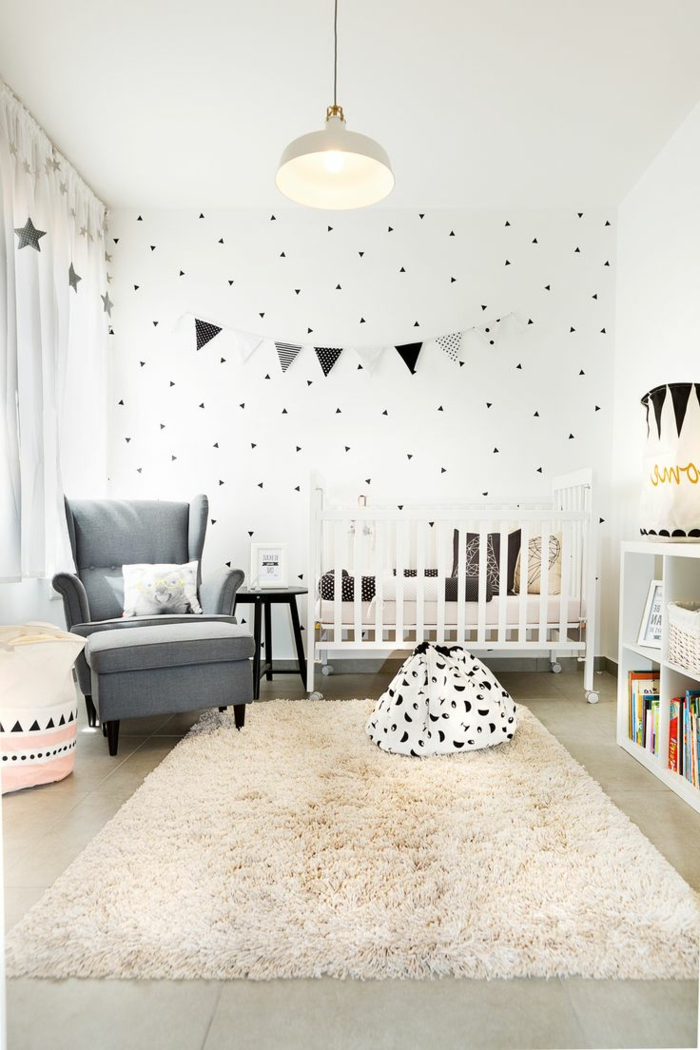 1001 ideas para decorar habitaciones infantiles for Decoracion blanco y gris